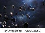 meteorites. deep space image ... | Shutterstock . vector #730203652