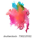 colorful abstract watercolor... | Shutterstock .eps vector #730215532