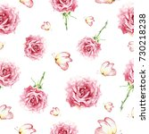 watercolor seamless pattern... | Shutterstock . vector #730218238