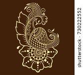 mehndi flower pattern for henna ...   Shutterstock .eps vector #730222552
