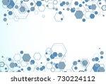 abstract hexagonal structures... | Shutterstock .eps vector #730224112
