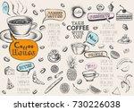 coffee menu  | Shutterstock . vector #730226038
