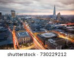city of london at sunset and... | Shutterstock . vector #730229212