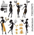 Set Of Girl Silhouettes ...