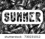 the word summer cut in a white... | Shutterstock .eps vector #730231012