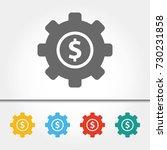 business gears single icon... | Shutterstock .eps vector #730231858