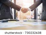 business partnership concept.... | Shutterstock . vector #730232638