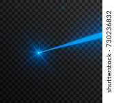 abstract blue laser beam.... | Shutterstock .eps vector #730236832