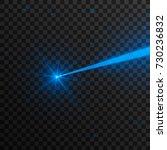abstract blue laser beam.... | Shutterstock .eps vector #730236832