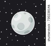 full moon cartoon on star... | Shutterstock .eps vector #730238146