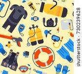 spearfishing scuba diving... | Shutterstock .eps vector #730239628