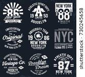 new york  brooklyn typography ... | Shutterstock .eps vector #730245658