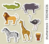 big set stickers with african... | Shutterstock .eps vector #730248136