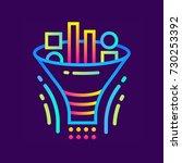 linear icon data filtering... | Shutterstock .eps vector #730253392