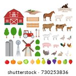 vector farm and farming icons... | Shutterstock .eps vector #730253836