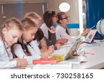 classes in creative children's... | Shutterstock . vector #730258165