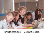 classes in creative children's... | Shutterstock . vector #730258186