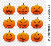 halloween pumpkin vector....   Shutterstock .eps vector #730260136