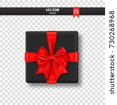 decorative gift box with red...   Shutterstock .eps vector #730268968