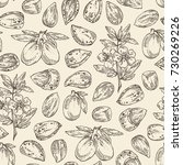 seamless pattern with almond ... | Shutterstock .eps vector #730269226