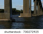 view of a huge bridge from the... | Shutterstock . vector #730272925