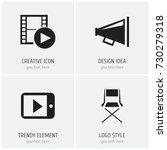 set of 4 editable cinema icons. ...