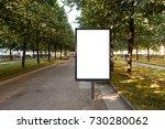 blank street billboard poster...   Shutterstock . vector #730280062