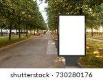 blank street billboard poster... | Shutterstock . vector #730280176
