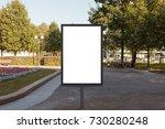 blank street billboard poster...   Shutterstock . vector #730280248