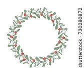christmas string lights | Shutterstock .eps vector #730280872