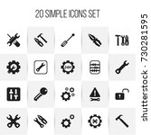 set of 20 editable repair icons....