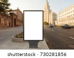 blank street billboard poster... | Shutterstock . vector #730281856