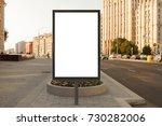 blank street billboard poster... | Shutterstock . vector #730282006