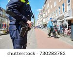 city safety. policeman in the... | Shutterstock . vector #730283782