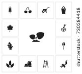 set of 13 editable agriculture...