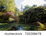 mysterious pond in the... | Shutterstock . vector #730288678