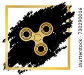 fidget spinner sign. vector....   Shutterstock .eps vector #730290016