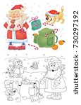 new year. christmas.... | Shutterstock . vector #730297192