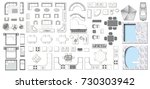 set top view for interior icon...   Shutterstock .eps vector #730303942