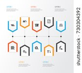 architecture icons set....   Shutterstock .eps vector #730304392