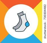 half hose colorful outline... | Shutterstock .eps vector #730304482