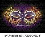 mardi gras masquerade mask....   Shutterstock .eps vector #730309075