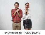 joyful successful business... | Shutterstock . vector #730310248