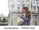 outdoor shot of beautiful... | Shutterstock . vector #730317262