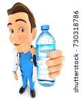 3d Doctor Holding Water Bottle...