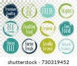 vector organic labels  bio... | Shutterstock .eps vector #730319452