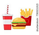 fast food. cup of cola with... | Shutterstock .eps vector #730321315