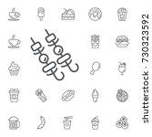 kebab on skewers vector icon on ... | Shutterstock .eps vector #730323592