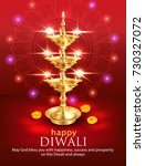 happy diwali background with...   Shutterstock .eps vector #730327072
