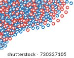 vector 3d social network like... | Shutterstock .eps vector #730327105